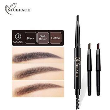Vinjeely Waterproof Eye Brow Eyeliner Eyebrow Pen Pencil With Brush Makeup Cosmetic Tool (A)