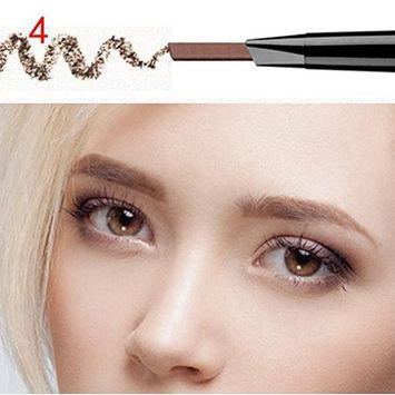 Eyebrow Pen ,Vinjeely Waterproof Eye Brow Eyeliner Pencil With Brush Makeup Cosmetic Tool (D)