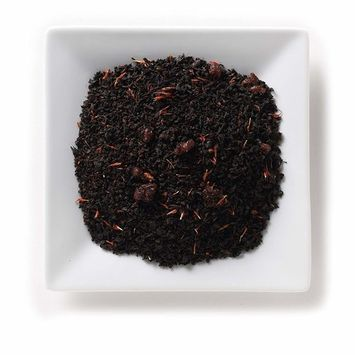 Mahamosa Red Fruits Decaf Tea 8 oz- Flavored Decaffeinated Black Tea Blend (with loose leaf decaf Black Tea, cranberry pieces, and safflowers with cranberry, strawberry, and raspberry flavor)