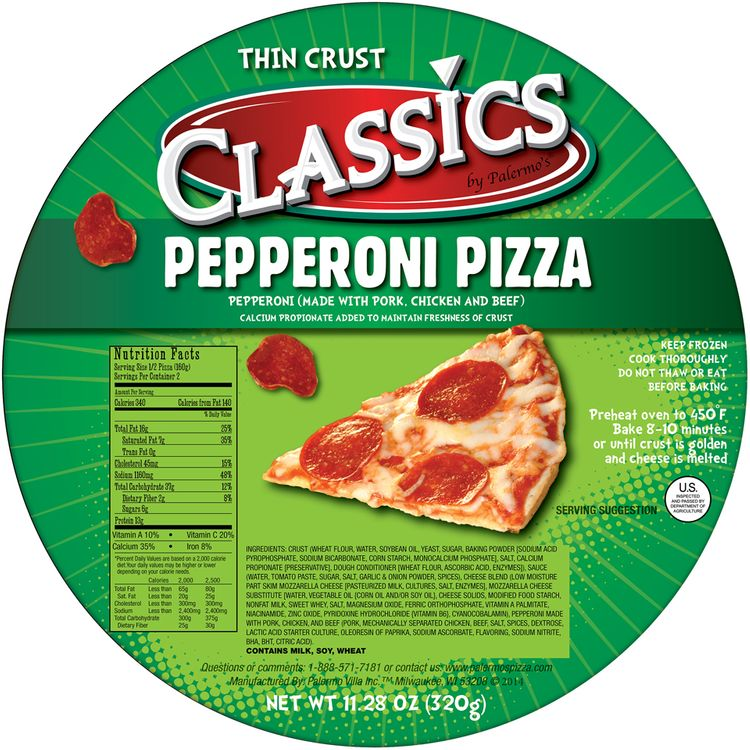 Classics by Palermo's® Pepperoni Thin Crust Pizza