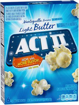 Act II® Light Butter Microwave Popcorn