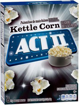 Act II® Kettle Corn Microwave Popcorn