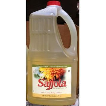 1 Gallon Saffola 100% Safflower Oil (128oz) 3.79 Liter for Frying Baking Salad, No Cholesterol, Low in Saturated Fat (Pack of 1)