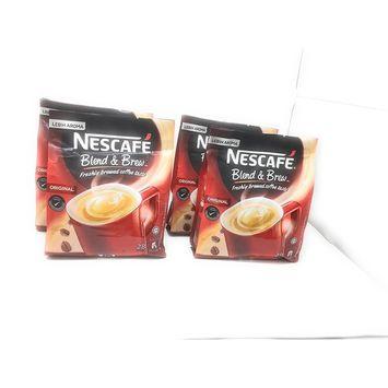 Nescafé 4 Packs 3-in-1 Original Premix Instant Coffee Single Serve Packets - Total 112 Sticks