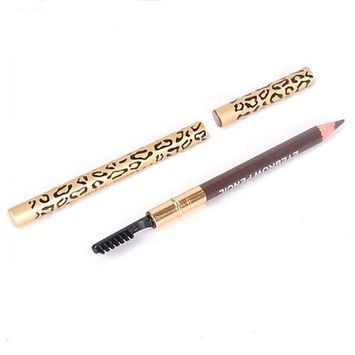Eyebrow Pencil - TOOGOO(R)Perfect Waterproof Longlasting Eyeliner Eyebrow Eye Brow Pencil & Brush Makeup