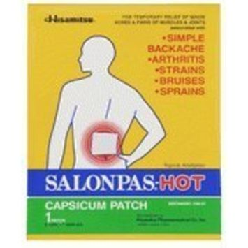 Salonpas Pain Relieving Patch - Hot 50 Pack Box of Large Size (5.12 x 7.09 in)