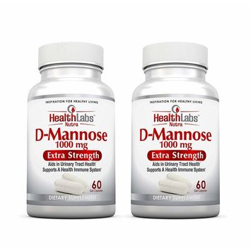 Health Labs Nutra D-Mannose 60-Day Supply 1,000mg – Fight Urinary Tract Infections & Promote a Healthy Bladder