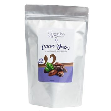 Carvalho Naturals Organic Cacao Beans, Whole, Unroasted & Unpeeled Pure Cacao, Fermented Cacao Beans, 16 Oz