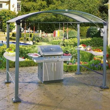 Brookstone Grillzebo All-Weather Grilling Canopy