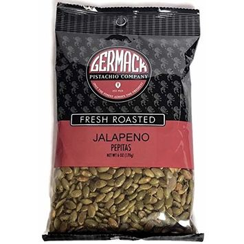 Germack Pistachio Company, Jalapeno Pepitas Shelled Pumpkin Seeds, Fresh Roasted and Salted, 6 ounce bag