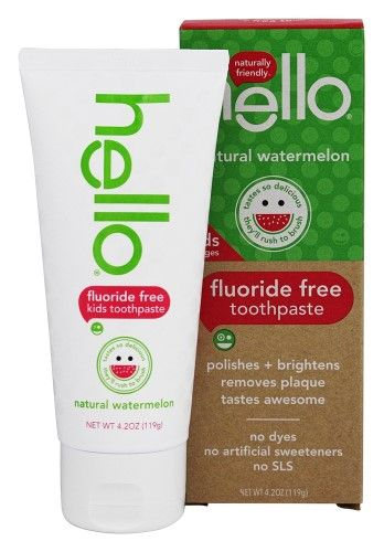 Hello Products - Kids Fluoride and SLS Free Toothpaste Watermelon - 4.2 oz.(pack of 12)