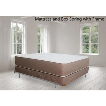 Continental Sleep, 14-inch Fully Assembled Innerspring Double Sided Firm Mattress and 8