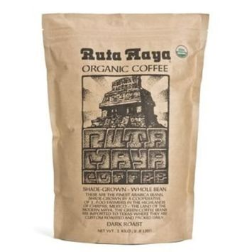 Ruta Maya Whole Bean Organic Coffee Dark Roast, 2.2 pounds