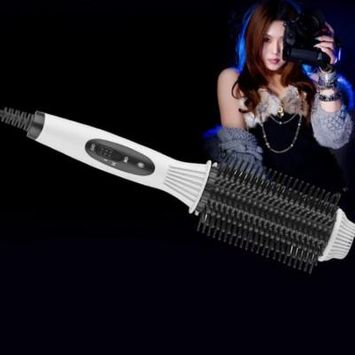 Fashion Multifunctional 2-in-1 Auto Electric Hair Comb Curler/Straightener
