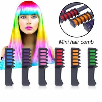 Hot Selling 6PCS Mini Disposable Salon Use Hair Dye Comb Crayons For Hair Color Chalk