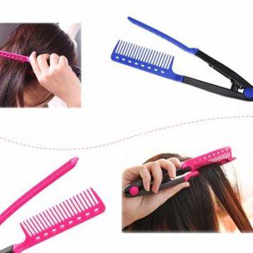 Folding DIY V-Shape Hair Styling Comb Hairdress Salon Beauty Hairdressing Tool