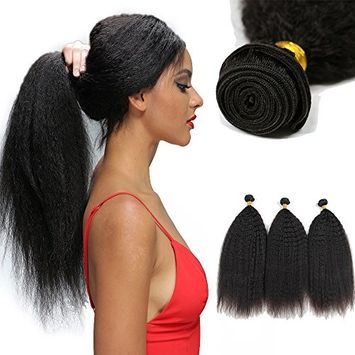 Baofu Hair Kinky Straight Brazilian Yaki Wave Virgin Remy 7A Human Hair 100g/bundles