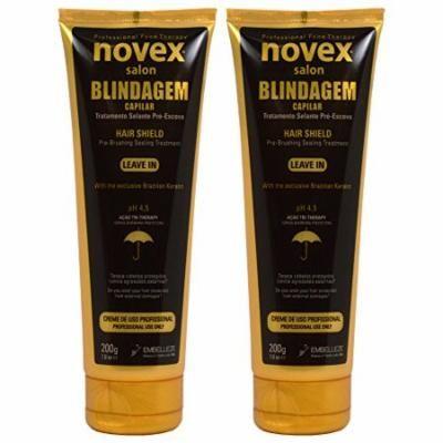 """Novex Salon Blindagem Capilar Treatment Hair Shield Leave-in 7oz / 200g """"Pack of 2"""""""