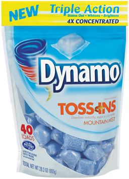dynamo® toss-ins mountain mist 4x concentrated laundry detergent