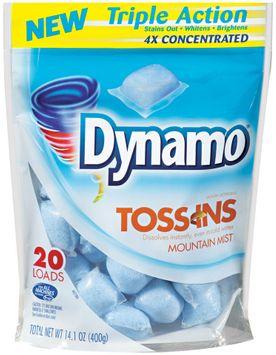 Fab® Toss-Ins Triple Action Mountain Mist Laundry Detergent