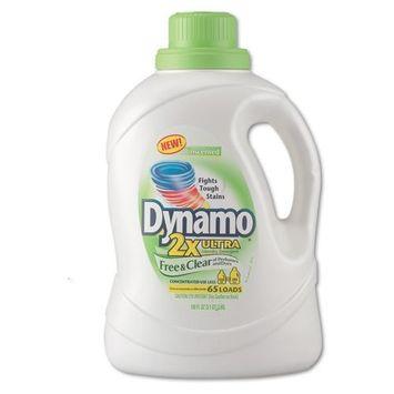 Dynamo Dynamo Ultra Liquid Laundry Detergent, Free & Clear, 100 oz, Bottle - four bottles.