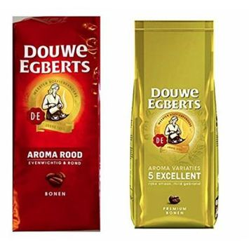 Douwe Egberts Aroma Rood & Excellent Aroma Whole Bean Coffee (1 of each 17.6oz)