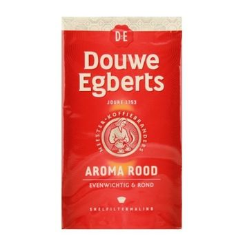 Douwe Egberts Aroma Rood Ground Coffee, 8.8-Ounce Package [Aroma Rood]