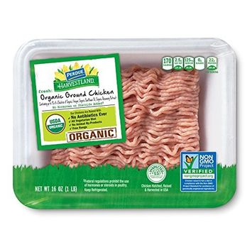 Perdue Harvestland Organic Ground Chicken, Non-GMO, 1 lb