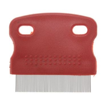SODIAL(R) Flea Fine Toothed Clean Comb Pet Cat Dog Hair Brush Soft Protection Steel Small