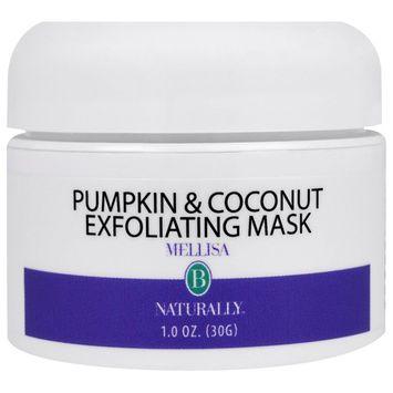 Mellisa B. Naturally, Pumpkin & Coconut Exfoliating Mask, 1 oz (30 ml)