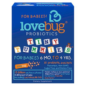 LoveBug Probiotics Tiny Tummies Digestive Health Packets - 30 Count
