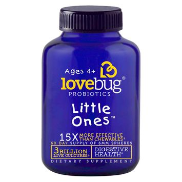 LoveBug Probiotics Little Ones Digestive Health 6mm Spheres - 60 Count