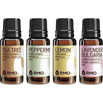 Rocky Mountain Oils - Single Essential Kit - 15 ml - 100% Pure and Natural Essential Oil Kit | Includes Lavender Bulgaria, Lemon, Peppermint, Tea Tree
