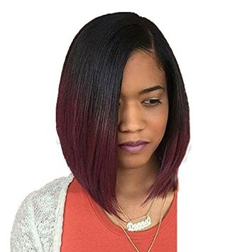 Hair Replacement Wigs Doinshop Women Synthetic Curly Straight Wig