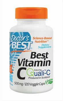Doctor's Best - Best Vitamin C - 500 mg - 120 Vegetarian Capsules