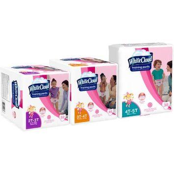 Kimberly-clark White Cloud Girls' Training Pants, 2T-3T, 52 ct