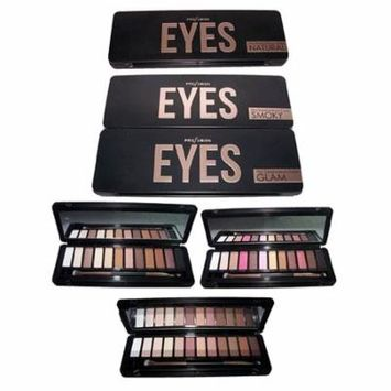 Cosmetics 12 Color Eye Shadow Palette By Profusion Glamour (CosEYES ZW)
