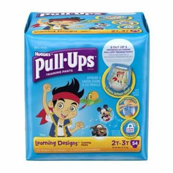 Pull-ups learning designs training pants 2t-3t boy big pack part no. 45148 (54/package)
