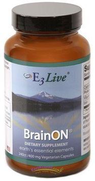 E3Live - BrainON 400 mg. - 240 Vegetarian Capsules