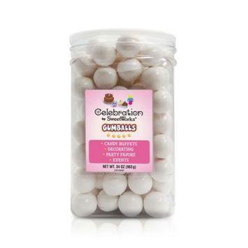 Sweetworks Gumballs Jar 34Oz-White