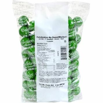 Celebration by SweetWorks Green Gumballs, 2 lbs