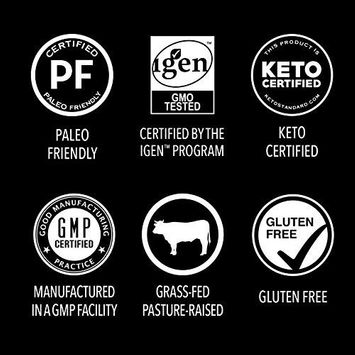 Premium Collagen Peptides Powder   Grass-Fed, Certified Paleo Friendly, Non-GMO and Gluten Free - Unflavored and Easy to Mix