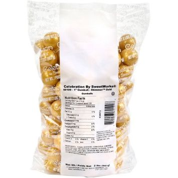 Sweetworks Gold Shimmer Gumballs: 2 lbs