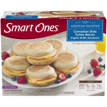 Smart Ones Tasty American Favorites Canadian Style Turkey Bacon English Muffin Sandwiches