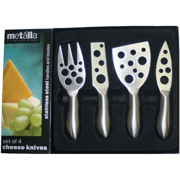 Prodyne K-4-H Set of 4 SS Cheese Knives - Little Holes