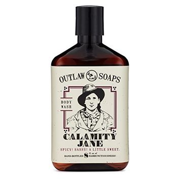 Calamity Jane Natural Body Wash: smells like whiskey, clove, orange, and a little cinnamon, for your spicy and sweet shower