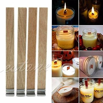 30Pcs 12.5mm x 150mm Candle Wood Wick with Sustainer Tab Candle Making Supply