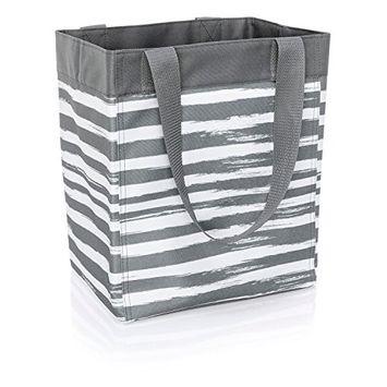 Thirty-One Essential Storage Tote in Grey Brush Strokes - No Monogram - 4446