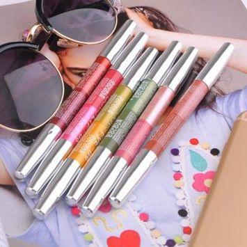 6 Colors Double Head Waterproof Eyeliner Pencil Eye Cosmetic Makeup Pen Pencil On Clearance