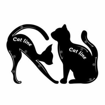 OUTAD Women Cat Line Eye Makeup Eyeliner Stencils Templates Stylish Makeup Tools
